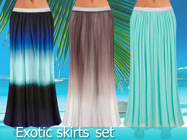 Exotic skirts set by Pinkzombiecupcakes