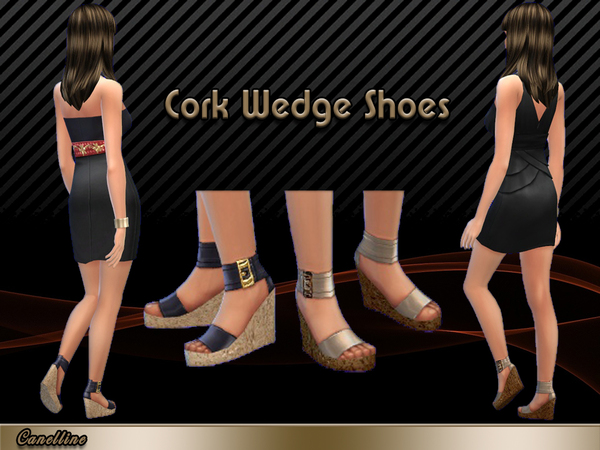 Cork Wedge Shoes by Canelline