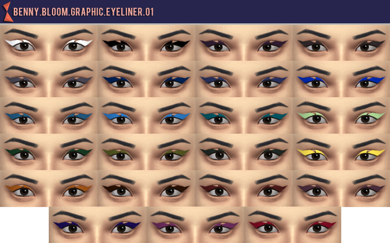 Graphic Eyeliner Set by BennyBloom