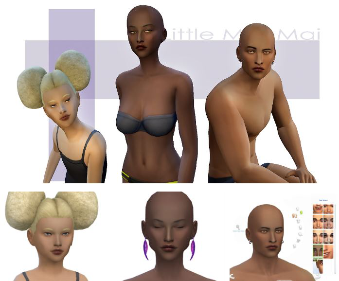 Skin Overlays for Darker Skins by Littlemissmai