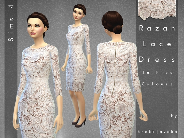 Razan Lace Dress by hrekkjavaka