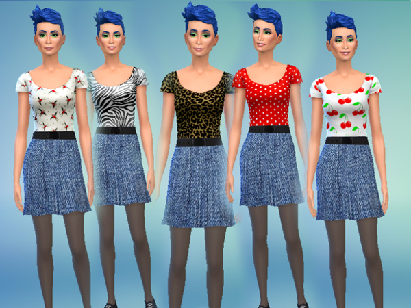 Patterned Denim Dresses by drea1219