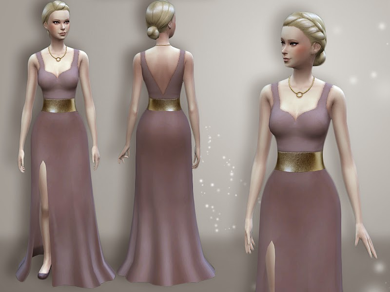 Side Slit Evening Dress by Rainicorn