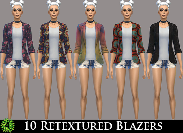 10 Retextured Blazers for Females by PeachySims