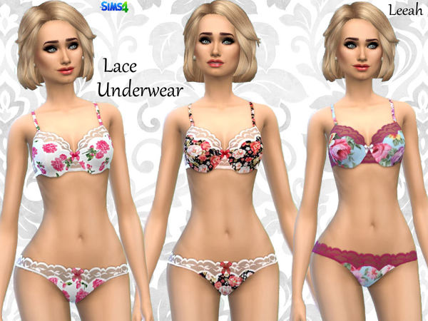 Lace Printed Underwear by leeah