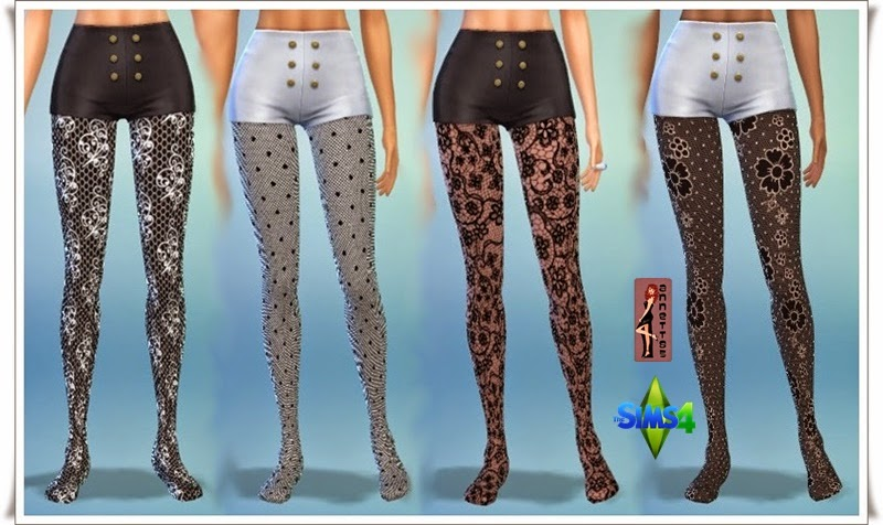 Lace Tights by Annett