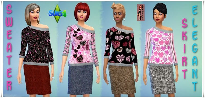 Sweaters and Skirts for Females by Annett