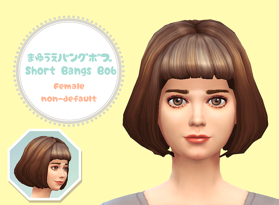 PiitaNiconico Short Bangs Bob for Females