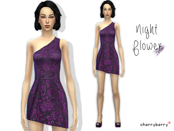 Night Flower dress by CherryBerrySim