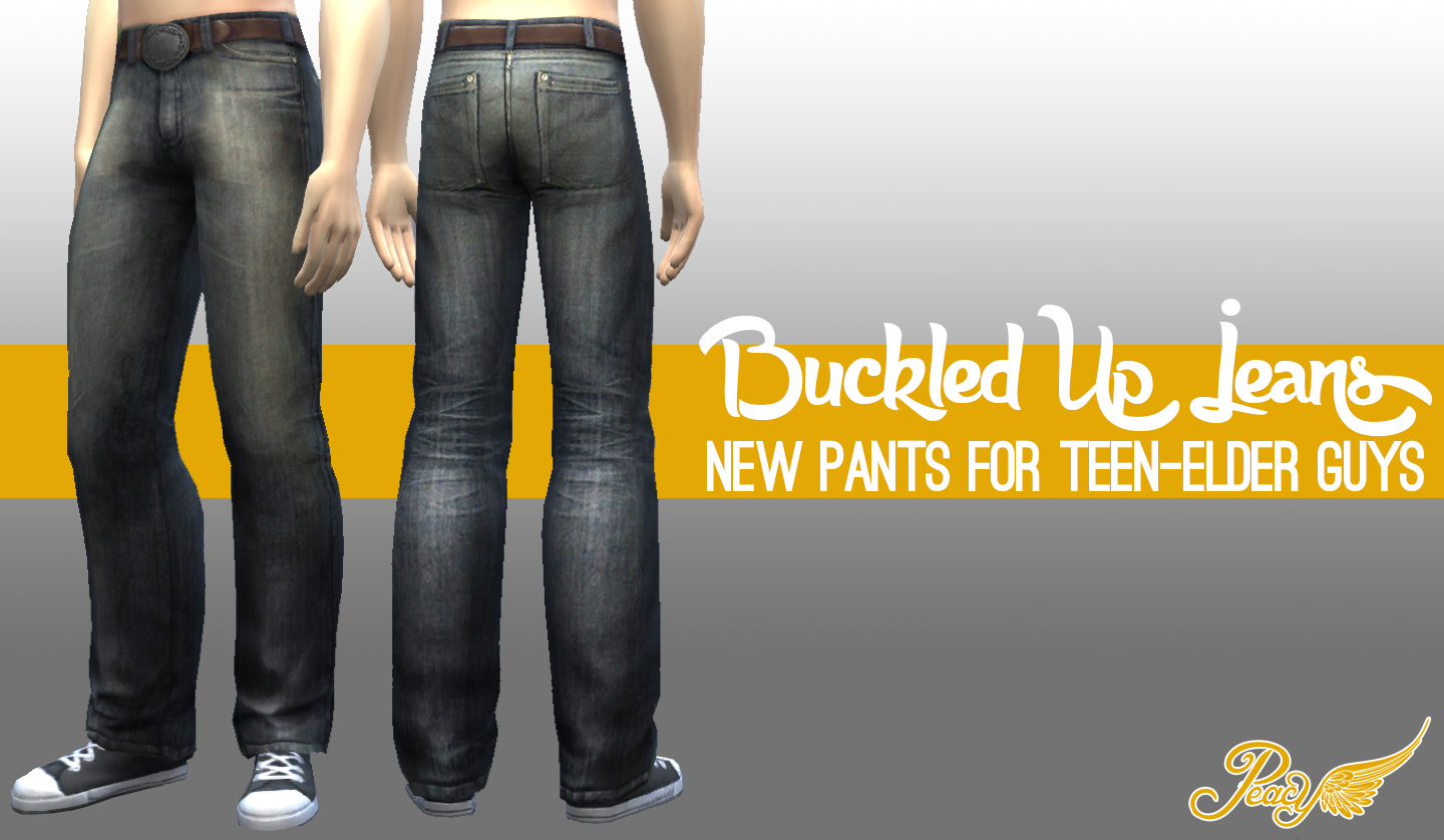 Buckled Up Jeans for Males by Peacemaker ic