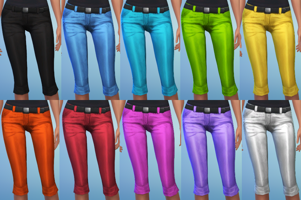 Metallic Crop Pants by ERae013