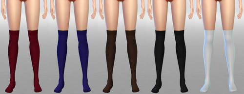 Medium Socks without Sheer Stripe by Nekros