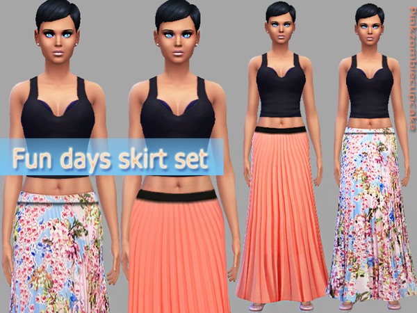 Fun days skirt set by Pinkzombiecupcakes