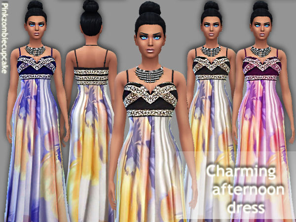 Charming afternoon dress by Pinkzombiecupcakes