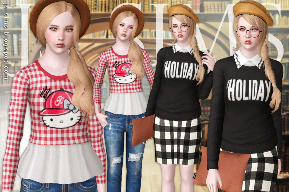 Preppy Style Set by JS Sims3