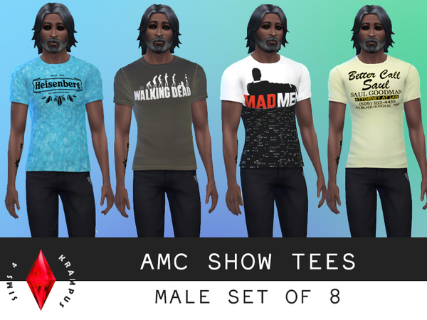 Set of 8 AMC Show Tees by SIms4Krampus
