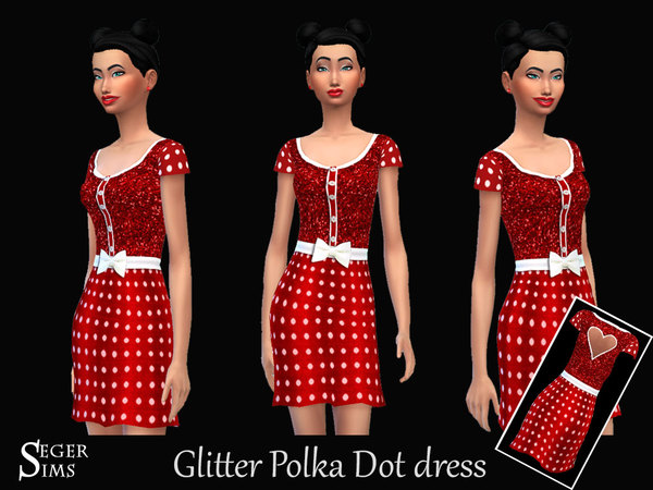 Glitter Polka Dot dress by SegerSims