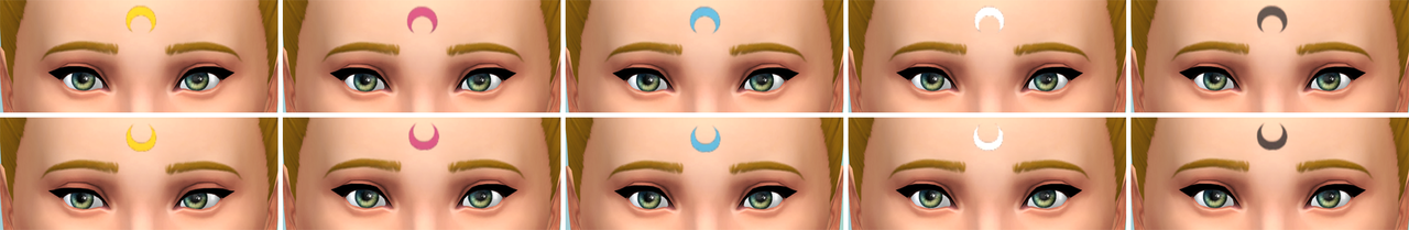 Sailor Moon Crescent Facepaint by Notsocialbunny