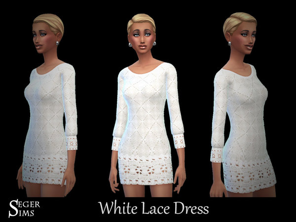 White Lace Dress by SegerSims