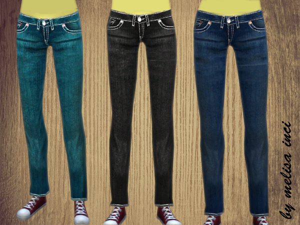 Denim Pants Set by melisa inci