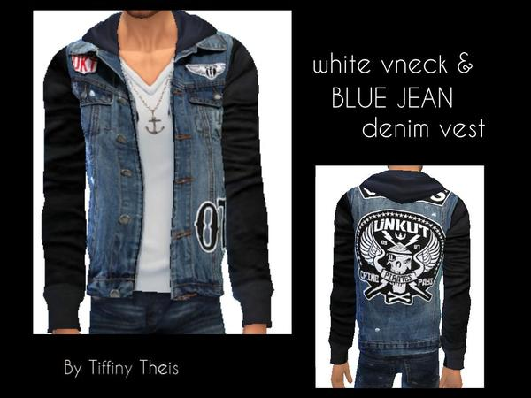 Vneck with Hoodie and Vest by tiffybee