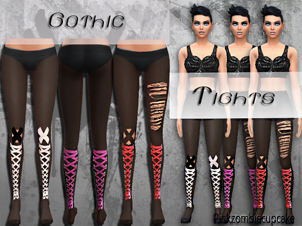 Gothic Tights by Pinkzombiecupcakes
