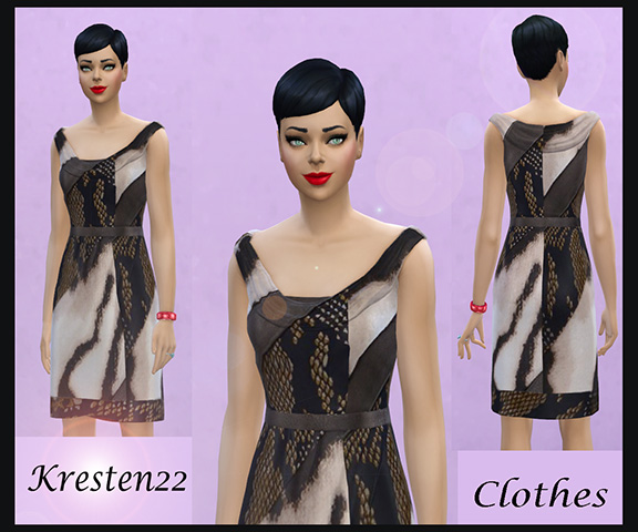 Dress animal print by Kresten