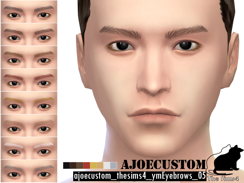 Non Default Eyebrows for Males by Ajoecustom