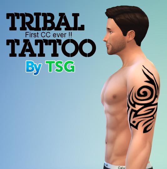 Tribal Tattoo by TheSimsGeneration
