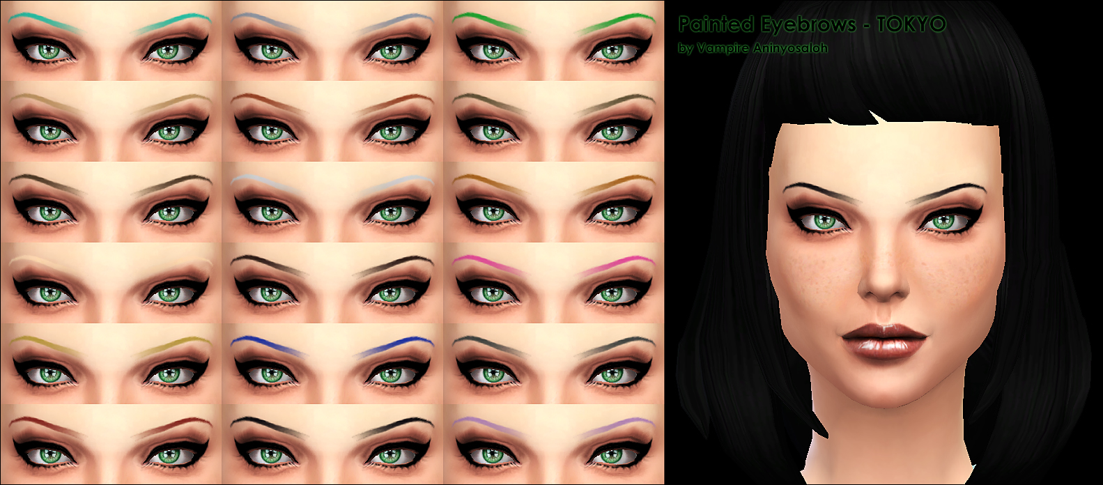 Painted Eyebrows -2 styles- by Vampire_aninyosaloh