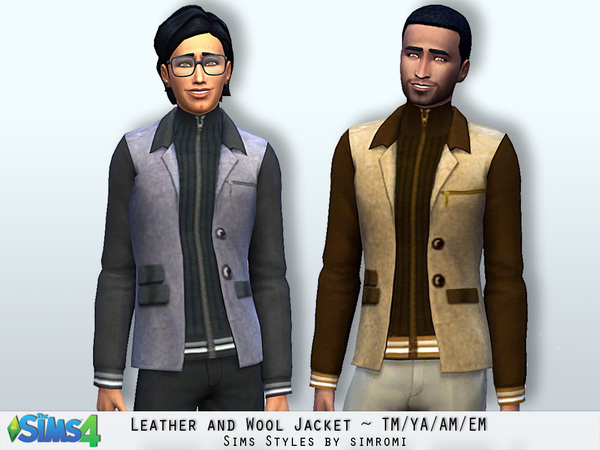 Leather and Wool Jacket TM AM EM by simromi