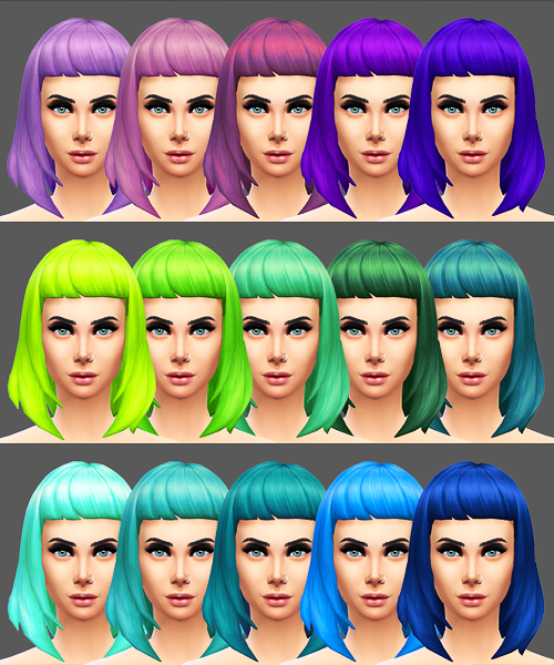Missfortunesims Cleo Hair Recolors by Sqquaresims