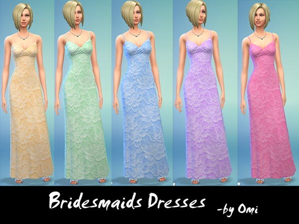 Bridesmaid Gowns by Ominator