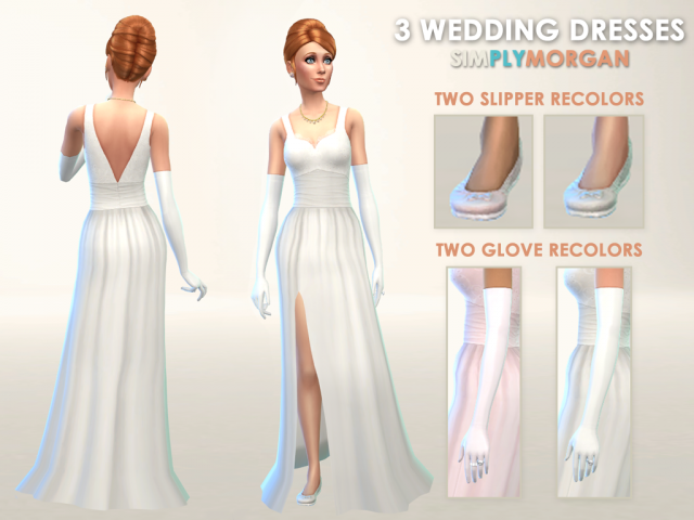 Wedding Dress, Shoes and Gloves by SimplyMorgan77
