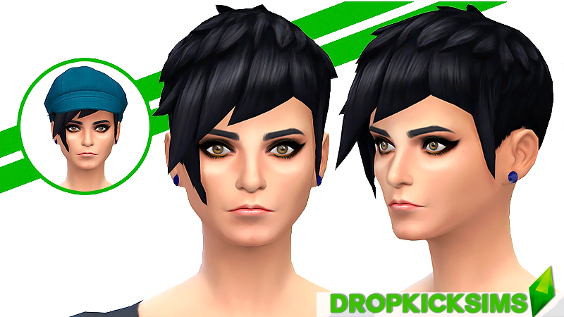Straight Edge Asymmetrical Female Hair Recolors by Dropkicksimscc