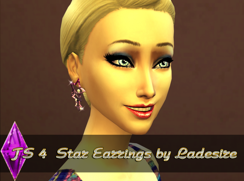 TS4 Star Earrings by ladesire (New Mesh)