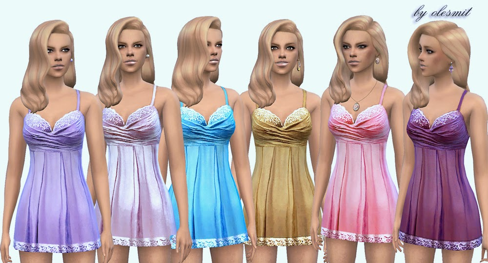 Drapery lingerie for TS4 by Olesmit