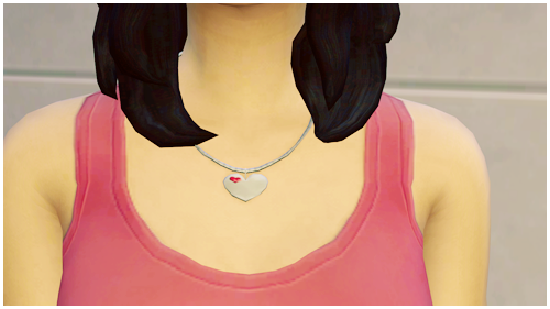Heart Necklace with Gem and Engraving by Pilinyasims