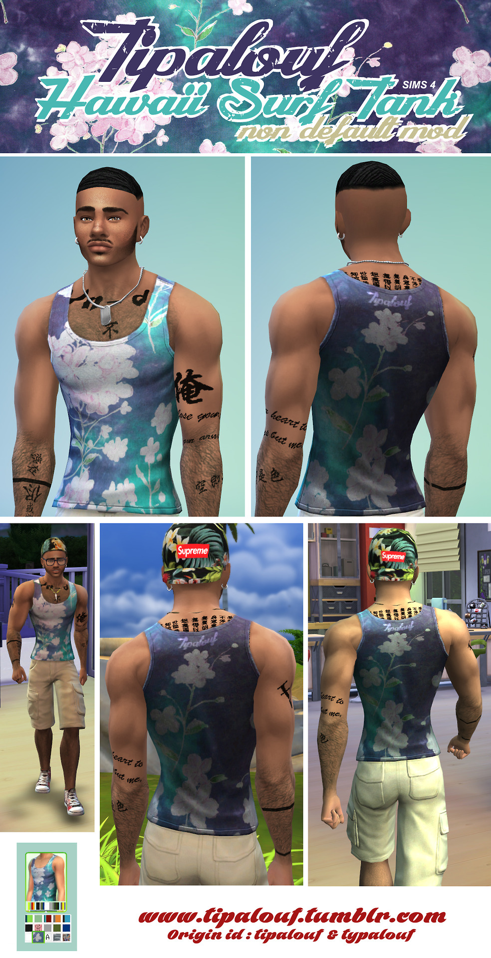 Hawaii Surf Tank for Males by Tipalouf