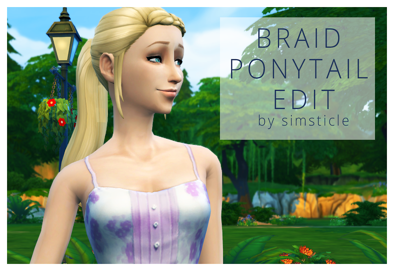 SimSticle Braid Ponytail Edit for Females