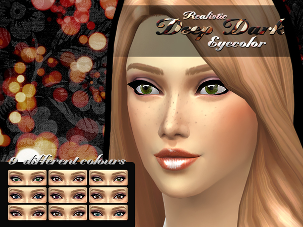 Realistic Deep Dark Eyecolor by Shishinom