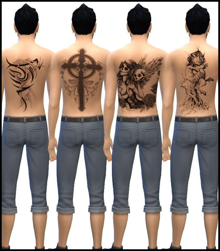 Back Tattoos for Males by Mr S