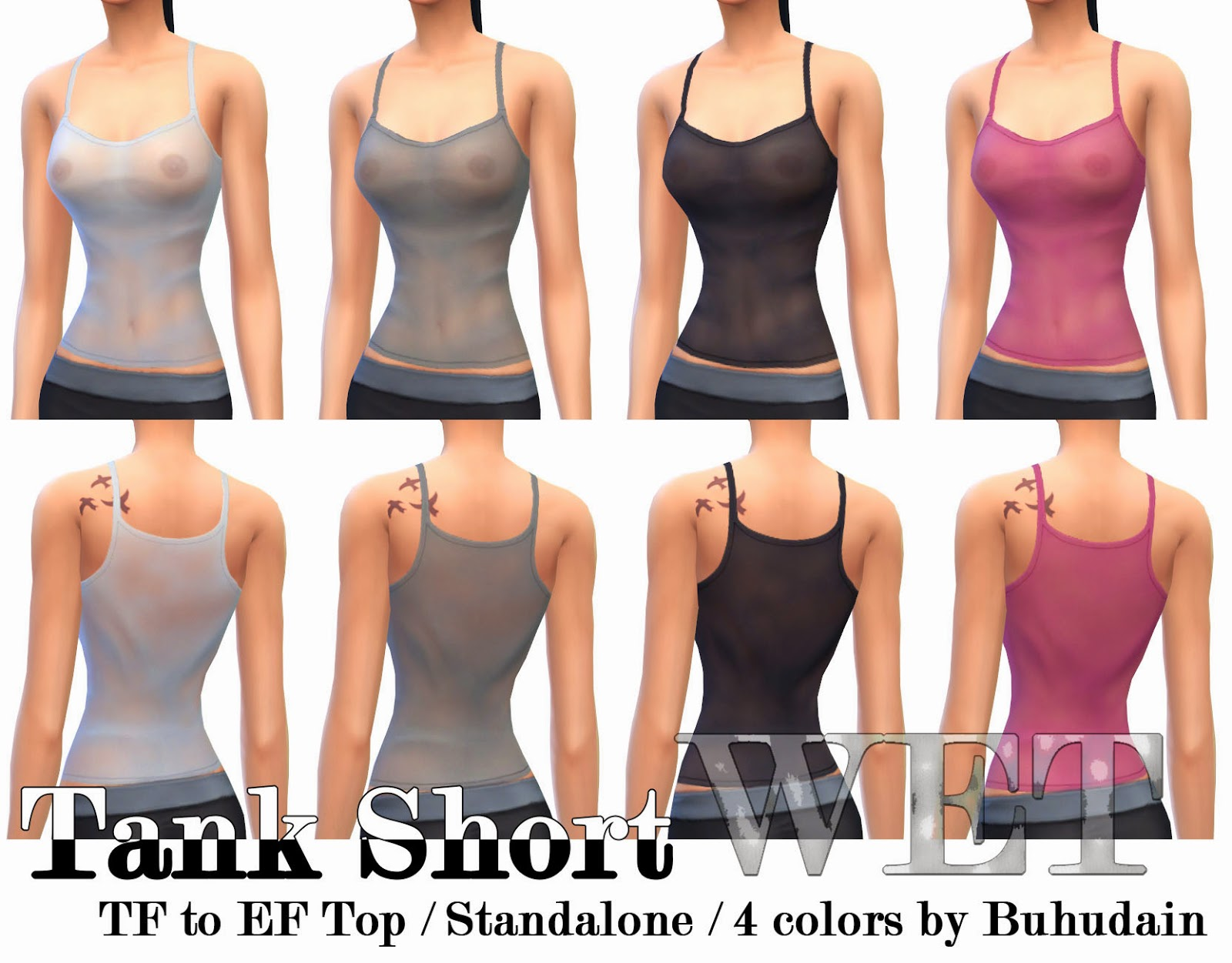 Wet Tank Top for Females by Buhudain
