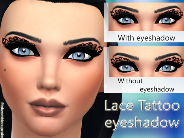 Lace tattoo eyeshadow by Pinkzombiecupcakes