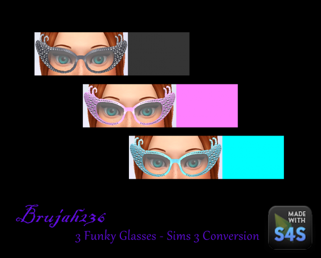 The Funky Glasses conversion from TS3 by brujah