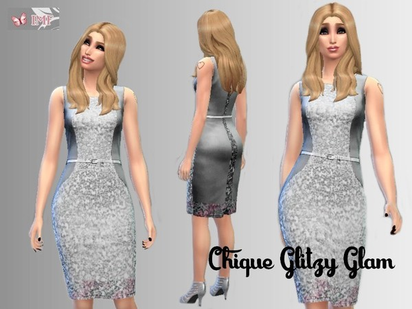 Chique Glitzy Glam Pencil Dress by IzzieMcFire