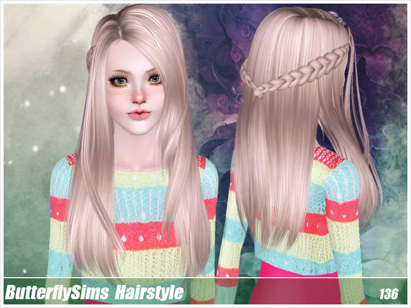 Hairstyle 136 by ButterflySims