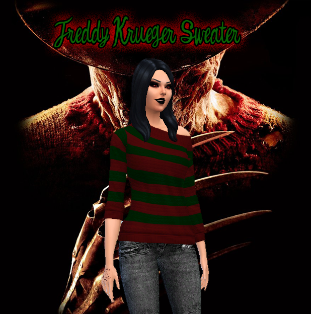 Freddy Krueger Inspired Sweater for Females by Brutaldesims