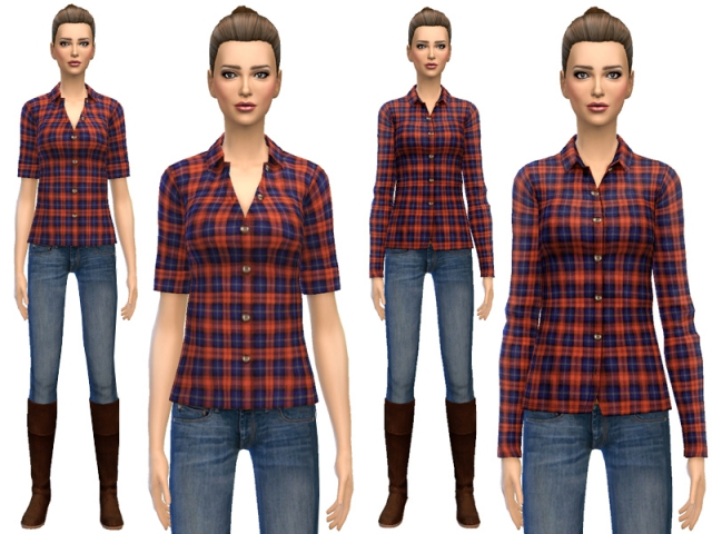 Classic Plaid Shirts by SimDetails