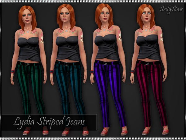 Lydia Striped Jeans by SrslySims